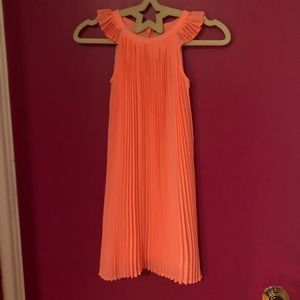 Baby Gap Neon Orange Chiffon Pleated Dress